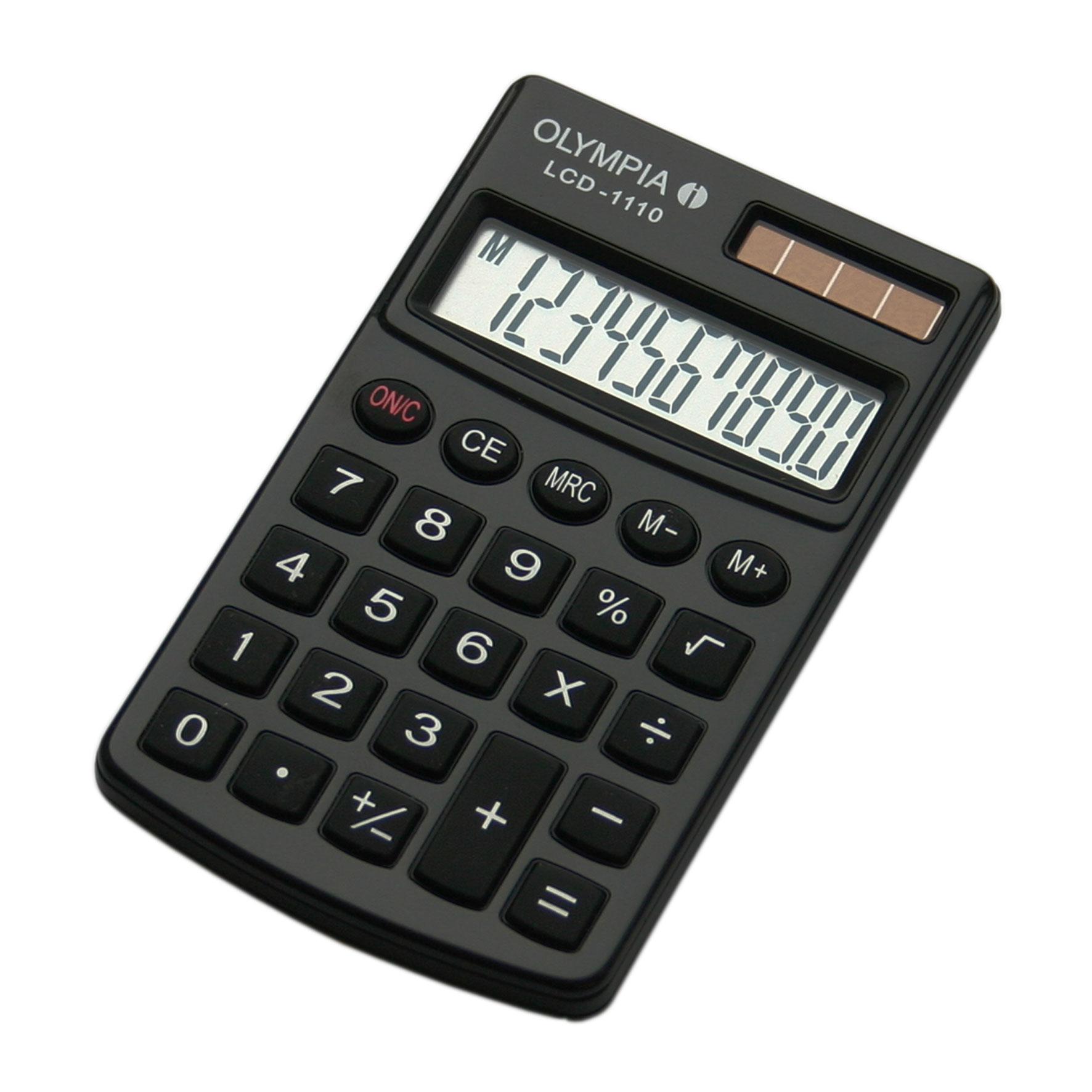 Olympia LCD 1110 - Tasche - Einfacher Taschenrechner - 10 Ziffern - 1 Zeilen - Schwarz