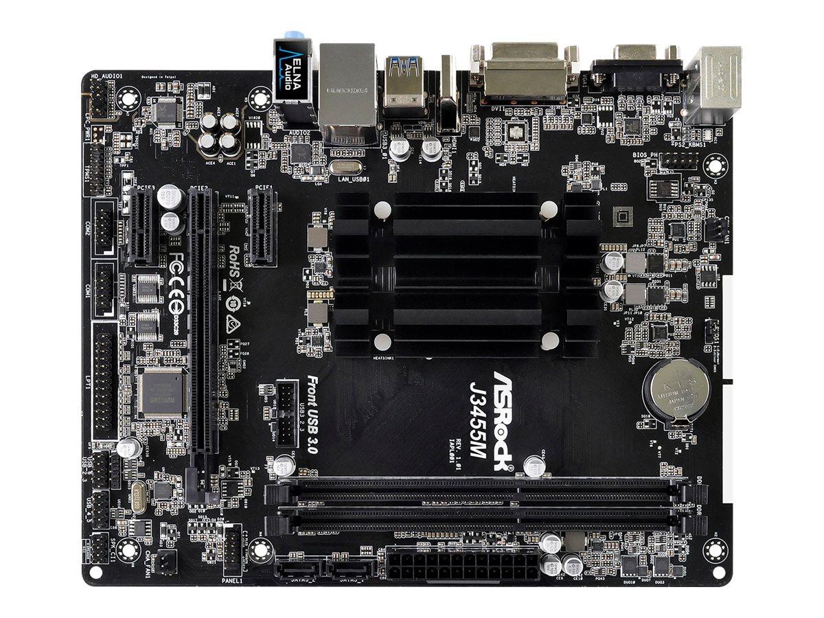 ASRock J3455M - Motherboard - micro ATX - Intel Celeron J3455 - USB 3.0 - Gigabit LAN - Onboard-Grafik - HD Audio (8-Kanal)