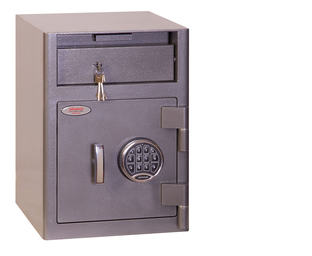 Phoenix Safe Phoenix Cash Deposit Size 1 Security Safe Elctrnic Lock DD - Bodensicher - Grau - Elektronisch - 47 l - 340 mm - 381 mm