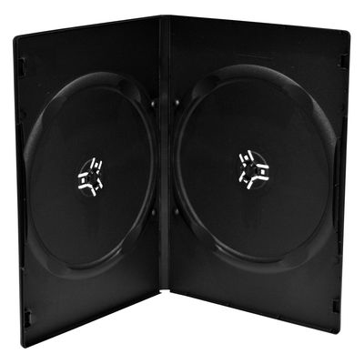 MEDIARANGE BOX14 - DVD-Hülle - 2 Disks - Schwarz - Kunststoff - 120 mm - 136 mm