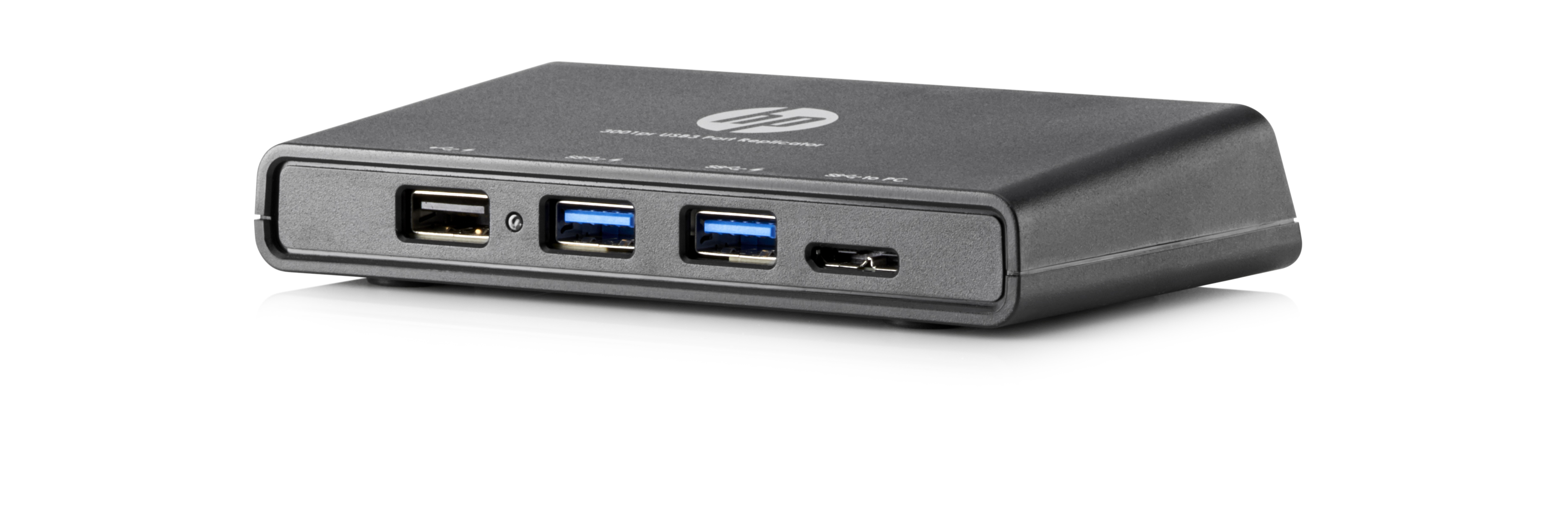 HP 3001pr USB 3.0 Port Replicator USB 3.0 (3.1 Gen 1) Type-A Schwarz