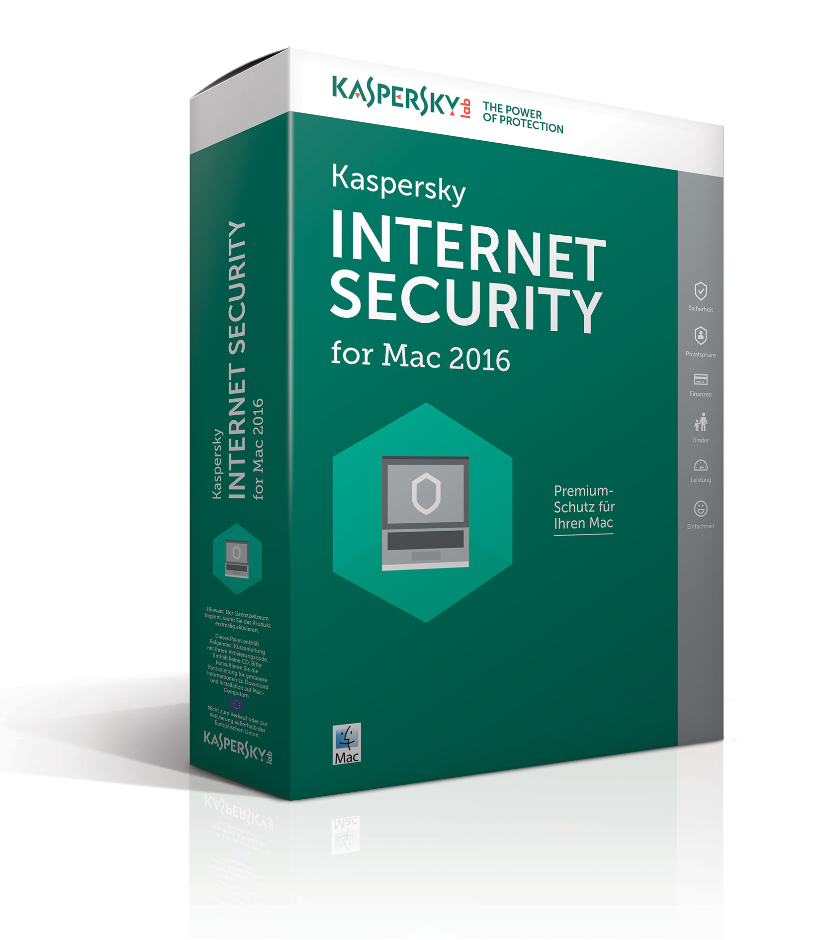 Kaspersky Internet Security for Mac 2016 - Box-Pack ( 1 Jahr ) - 1 Mac