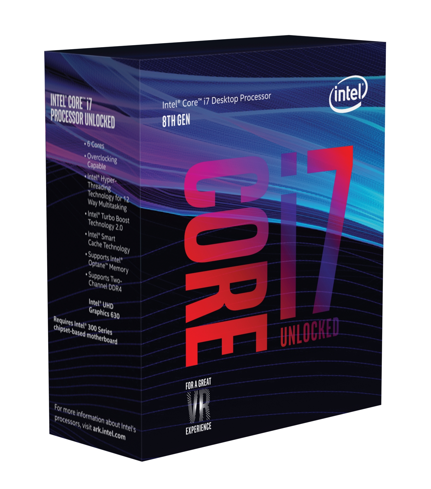 Intel Core ®  i7-8700K Processor (12M Cache - up to 4.70 GHz) 3.7GHz 12MB Smart Cache Box Prozessor