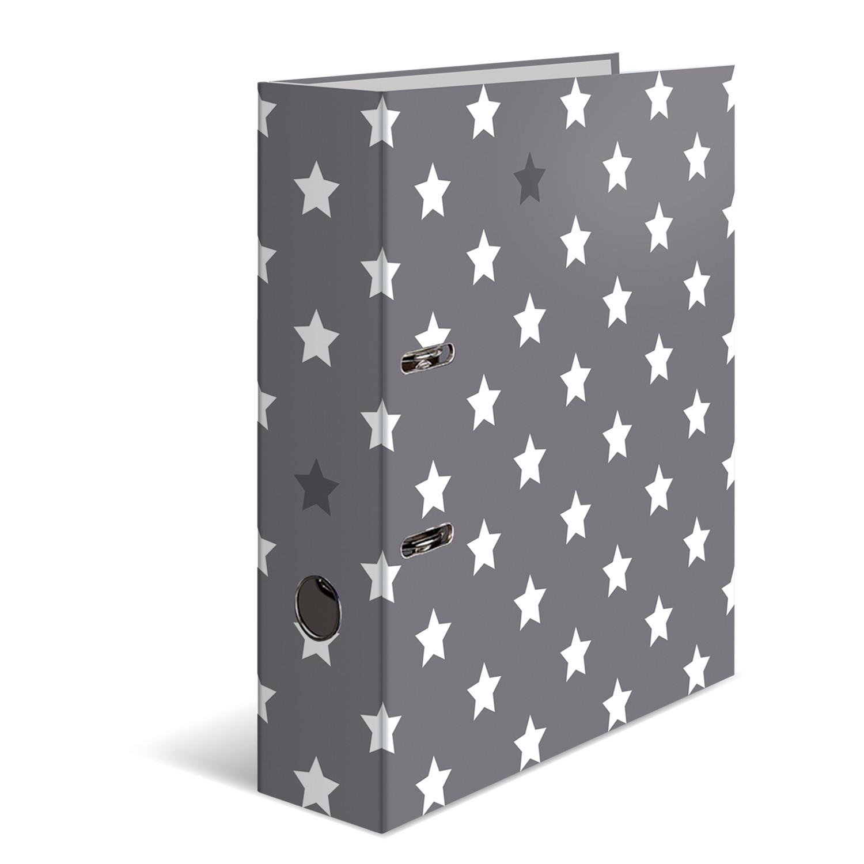 HERMA 7194 - Ordner - A4 - Karton - Grau - Stern Motiv