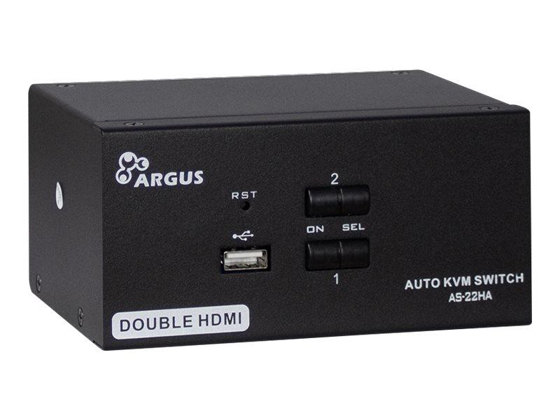 Inter-Tech Argus KVM AS-22HA - KVM-/Audio-Switch - 2 x KVM/Audio