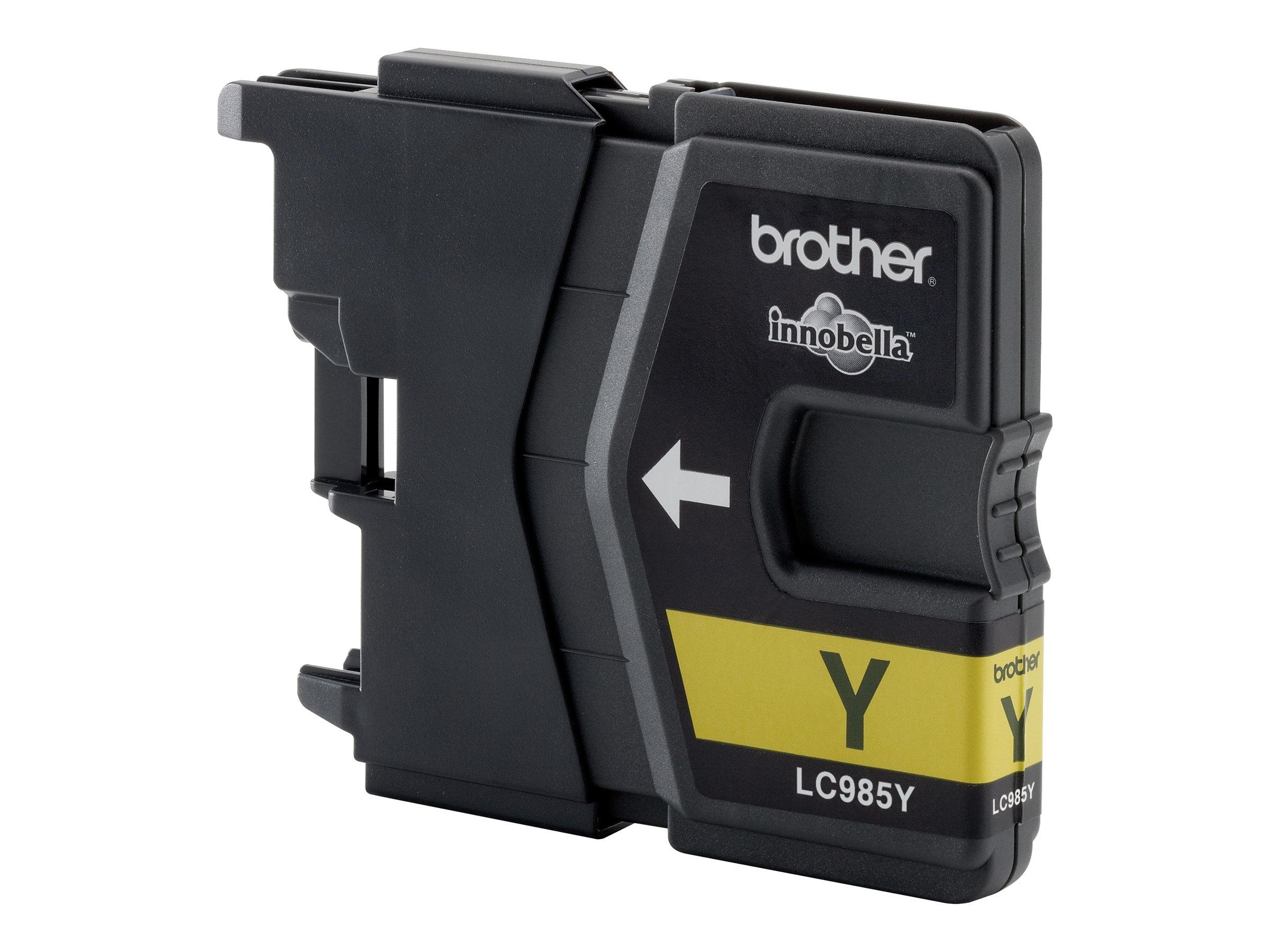 Brother LC985Y - Gelb - Original - Blister mit akustischem/elektromagnetischem Alarm