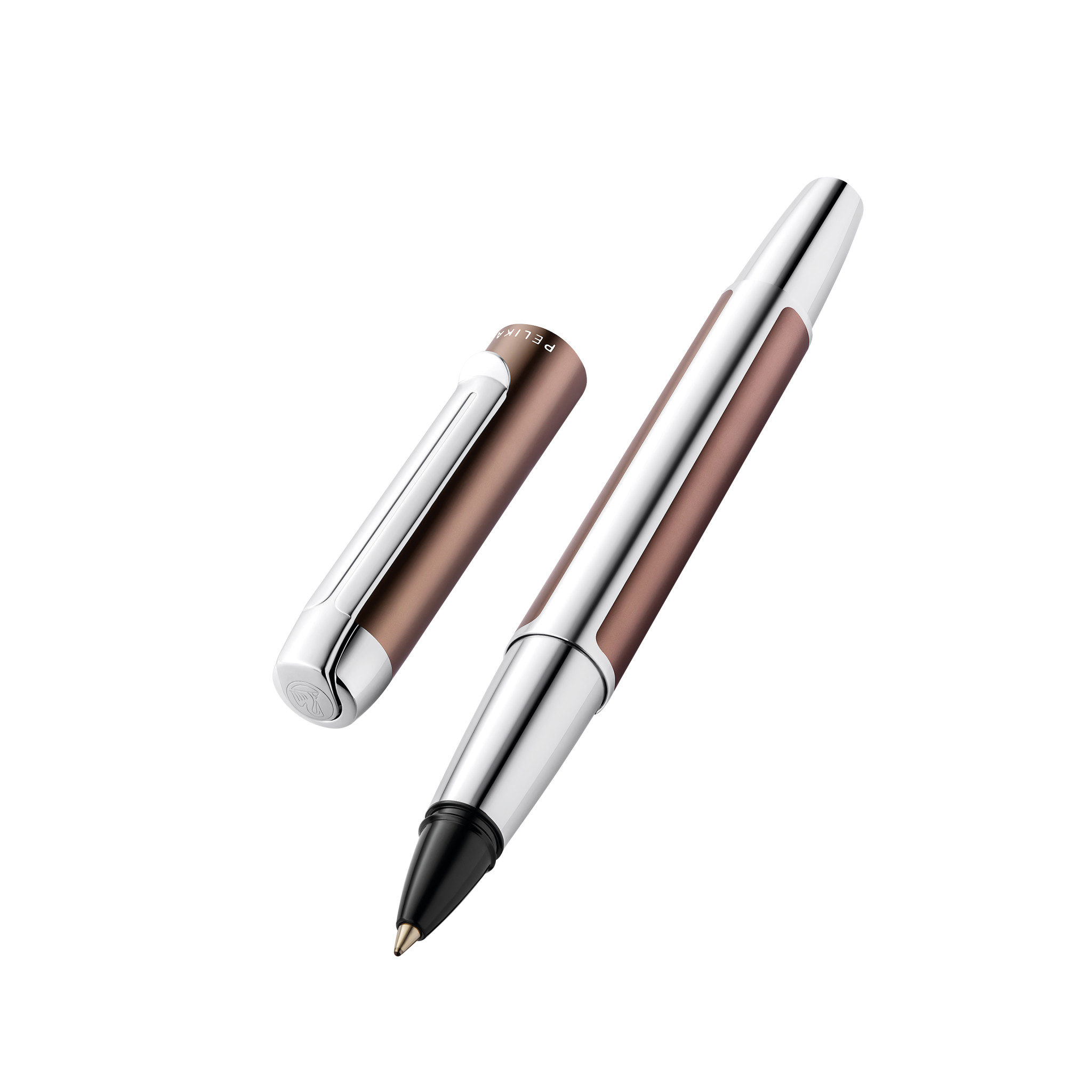 Pelikan Pura R40 - Stick Pen - Mokka - Silber - Schwarz - Aluminium - Medium - Deutschland