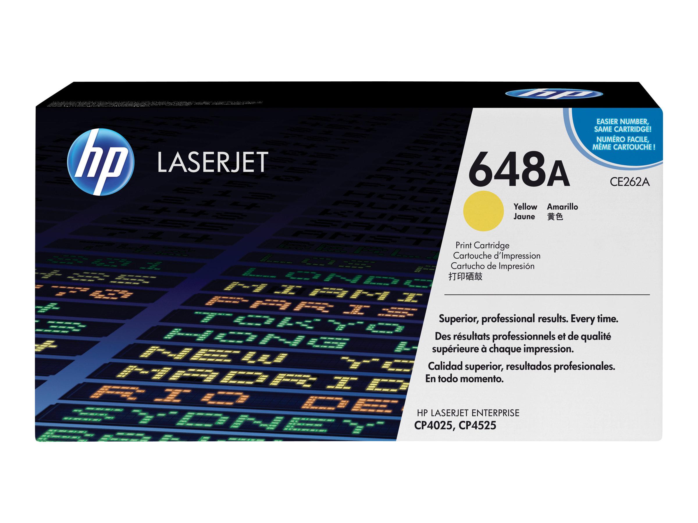 HP 648A - Gelb - Original - LaserJet - Tonerpatrone (CE262A)