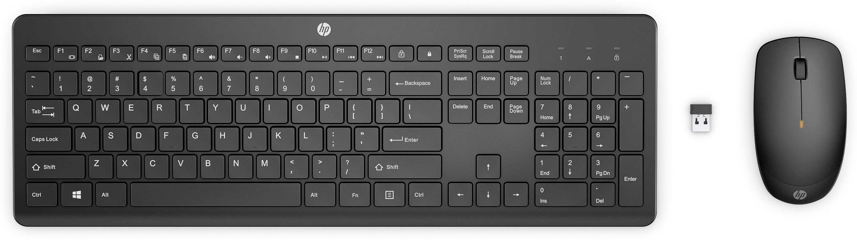 Vorschau: HP 235 - Tastatur-und-Maus-Set - kabellos - für EliteBook 835 G8, 840, 845 G8, 855 G8