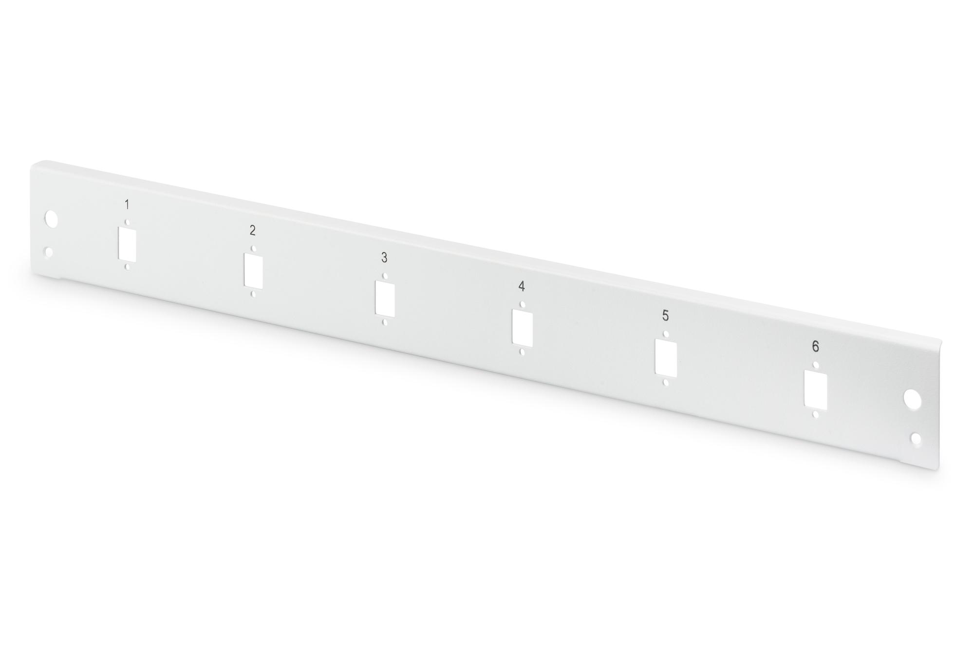 DIGITUS Fiber Optic Splice Box Front Panel, quick lock, 6x SC SX, LC DX