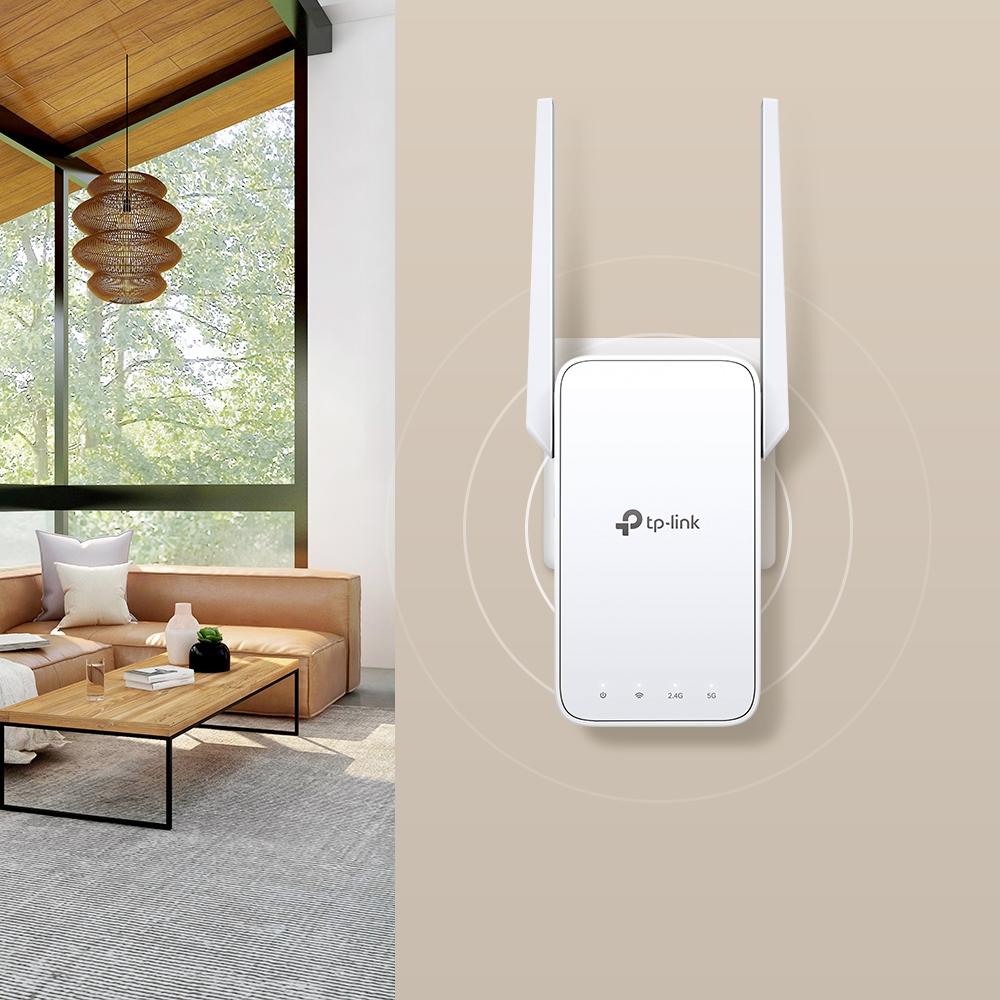 TP-LINK RE315 - 867 Mbit/s - 10,100 Mbit/s - Extern - 10/100Base-T(X) - IEEE 802.11a,IEEE 802.11ac,IEEE 802.11b,IEEE 802.11g,IEEE 802.11n - 802.11a,802.11b,802.11g,Wi-Fi 4 (802.11n),Wi-Fi 5 (802.11ac)