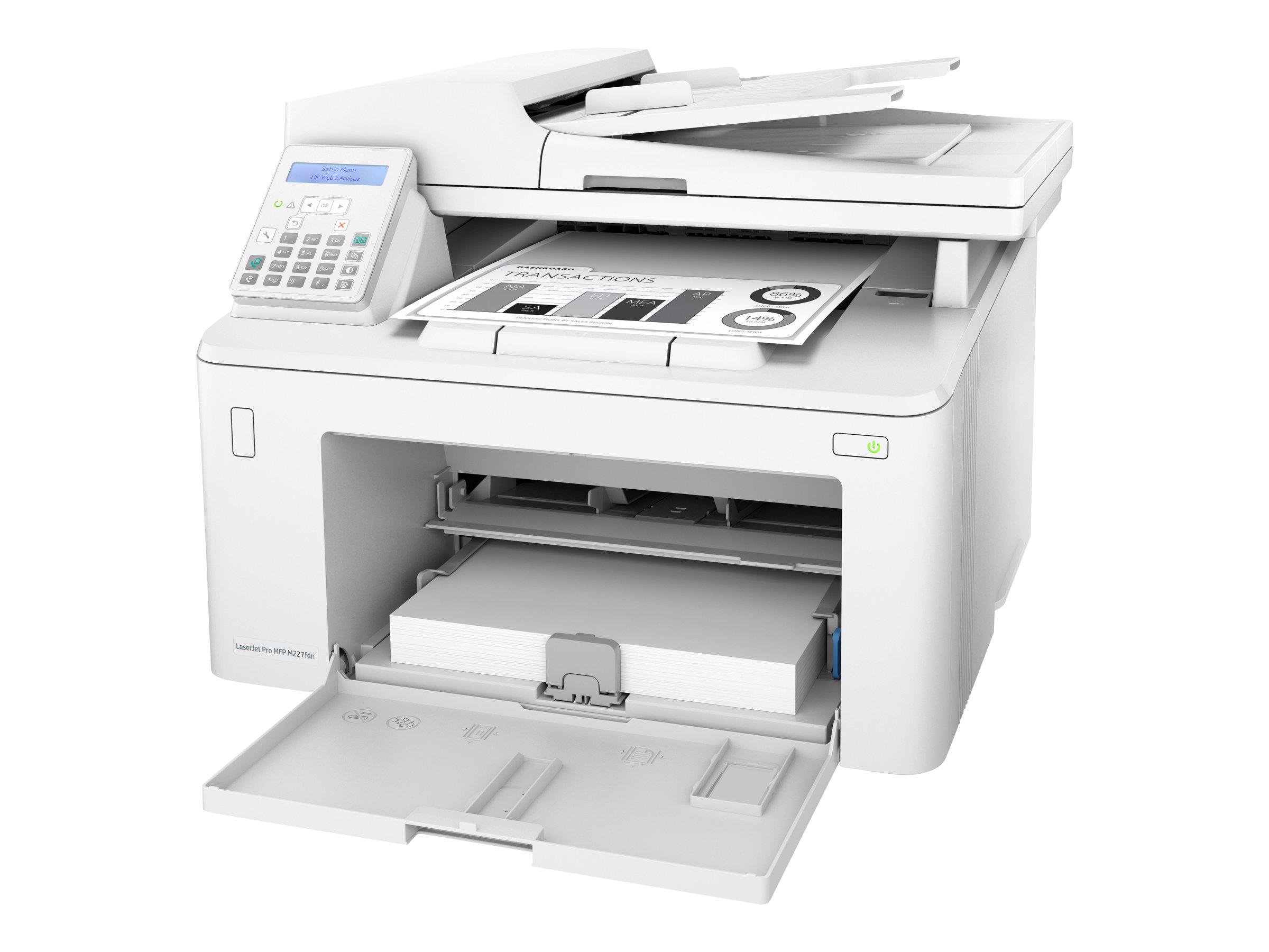 HP LaserJet Pro MFP M227fdn - Multifunktionsdrucker - s/w - Laser - Legal (216 x 356 mm)