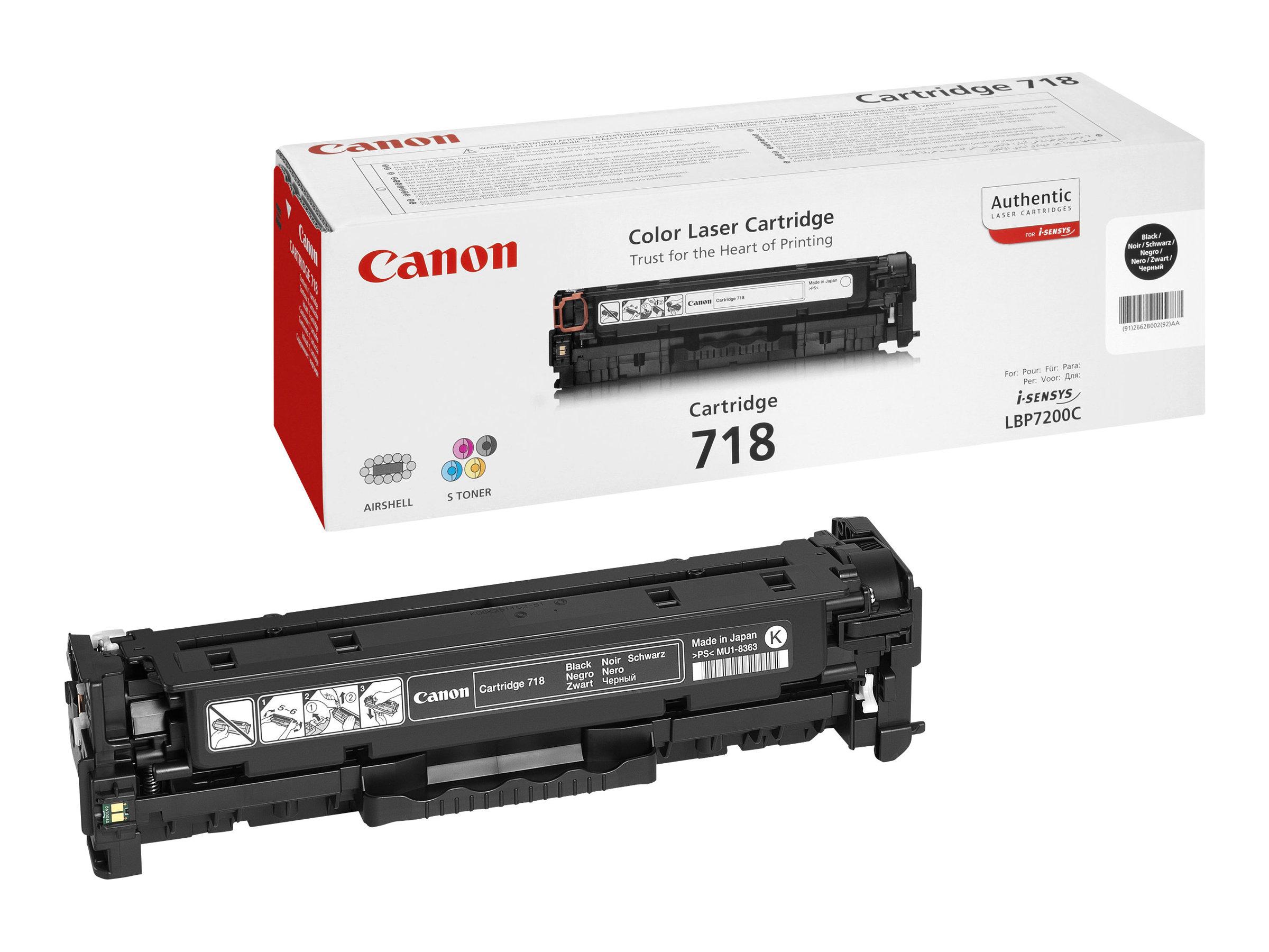 Canon 718 Black - Schwarz - Original - Tonerpatrone
