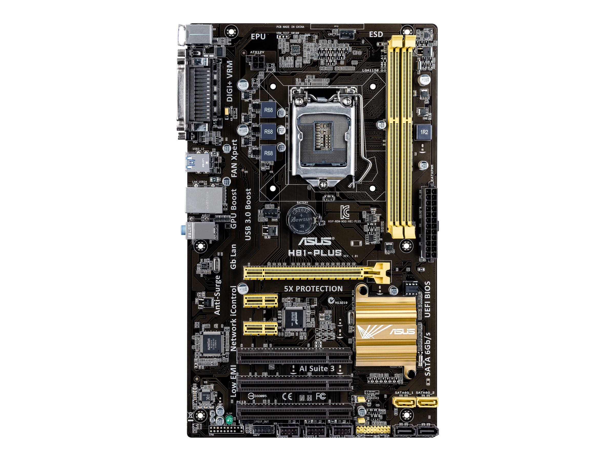 ASUS H81-PLUS - Motherboard - ATX