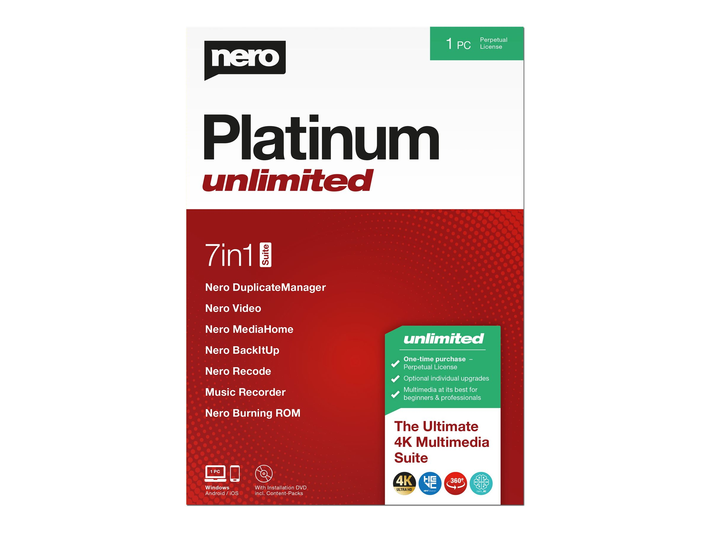 Nero Platinum Unlimited - Box-Pack - 1 PC - Win