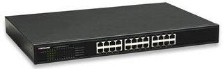 Intellinet 24-Port Unmanaged network switch Schwarz