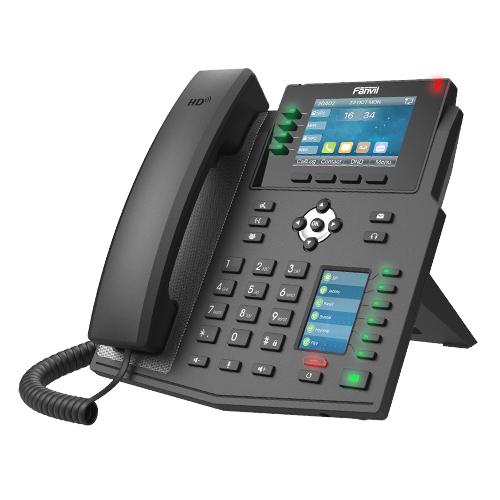 Fanvil X5U - Schwarz - Kabelgebundenes Mobilteil - Wired - Wireless - LCD - 480 x 320 Pixel