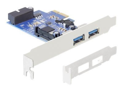 Delock PCI Express Card   2 x external USB 3.0 + 1 x internal 19 pin USB 3.0