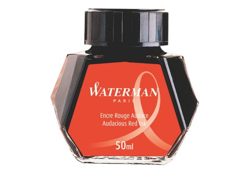 WATERMAN S0110730 - Rot - Schwarz - Transparent - Füllfederhalter - 50 ml - 1 Stück(e)