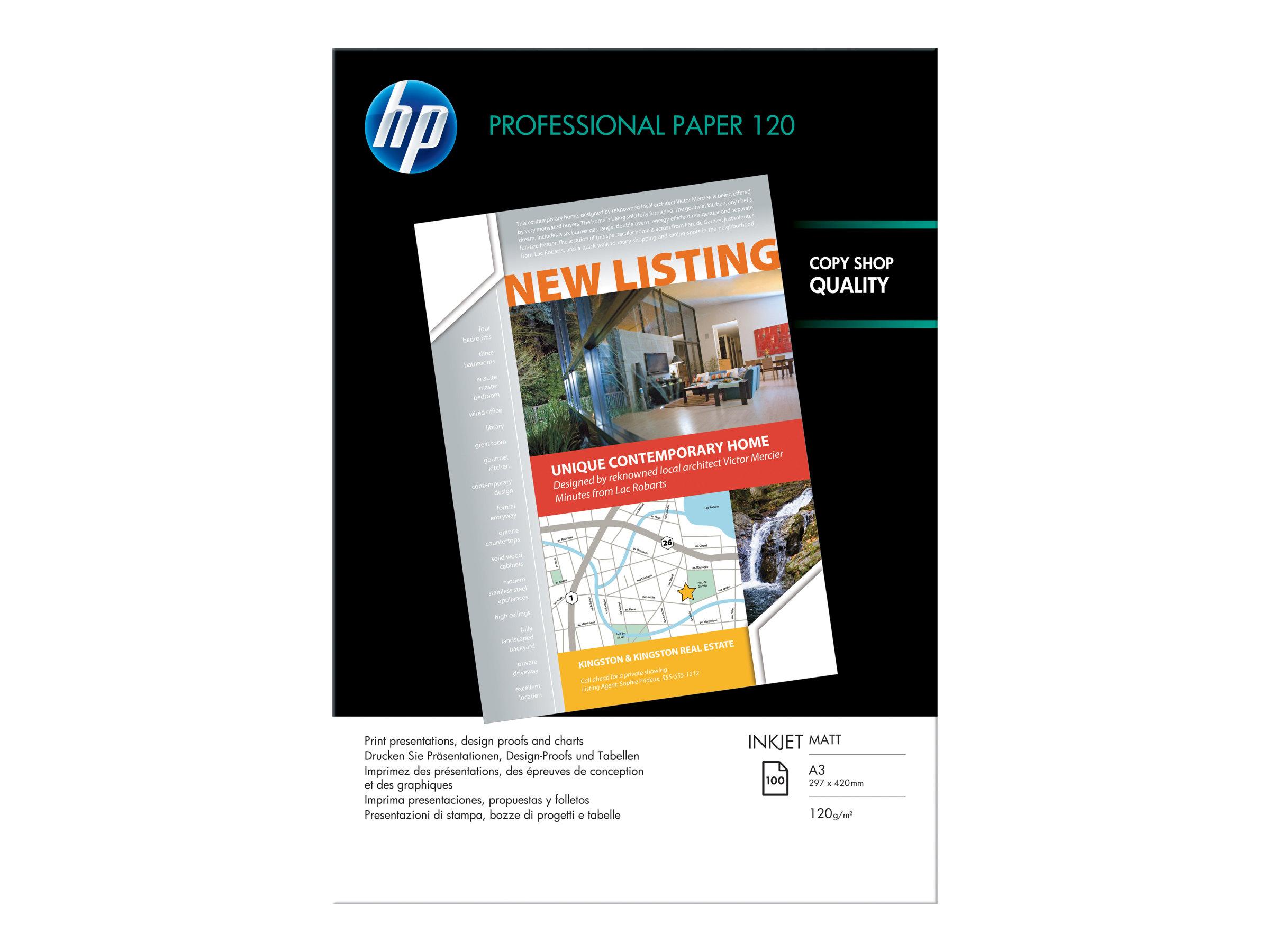 HP Professional 120 matt - Matt - hochweiß - A3 (297 x 420 mm)