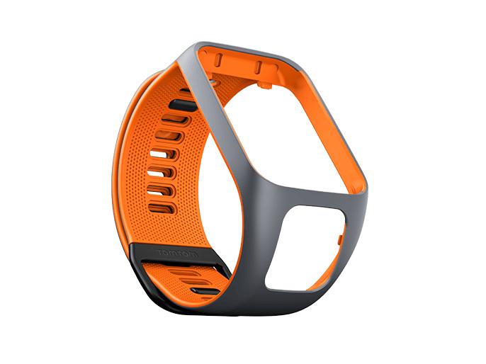 TomTom Größe S - Uhrarmband - Orange/Grau