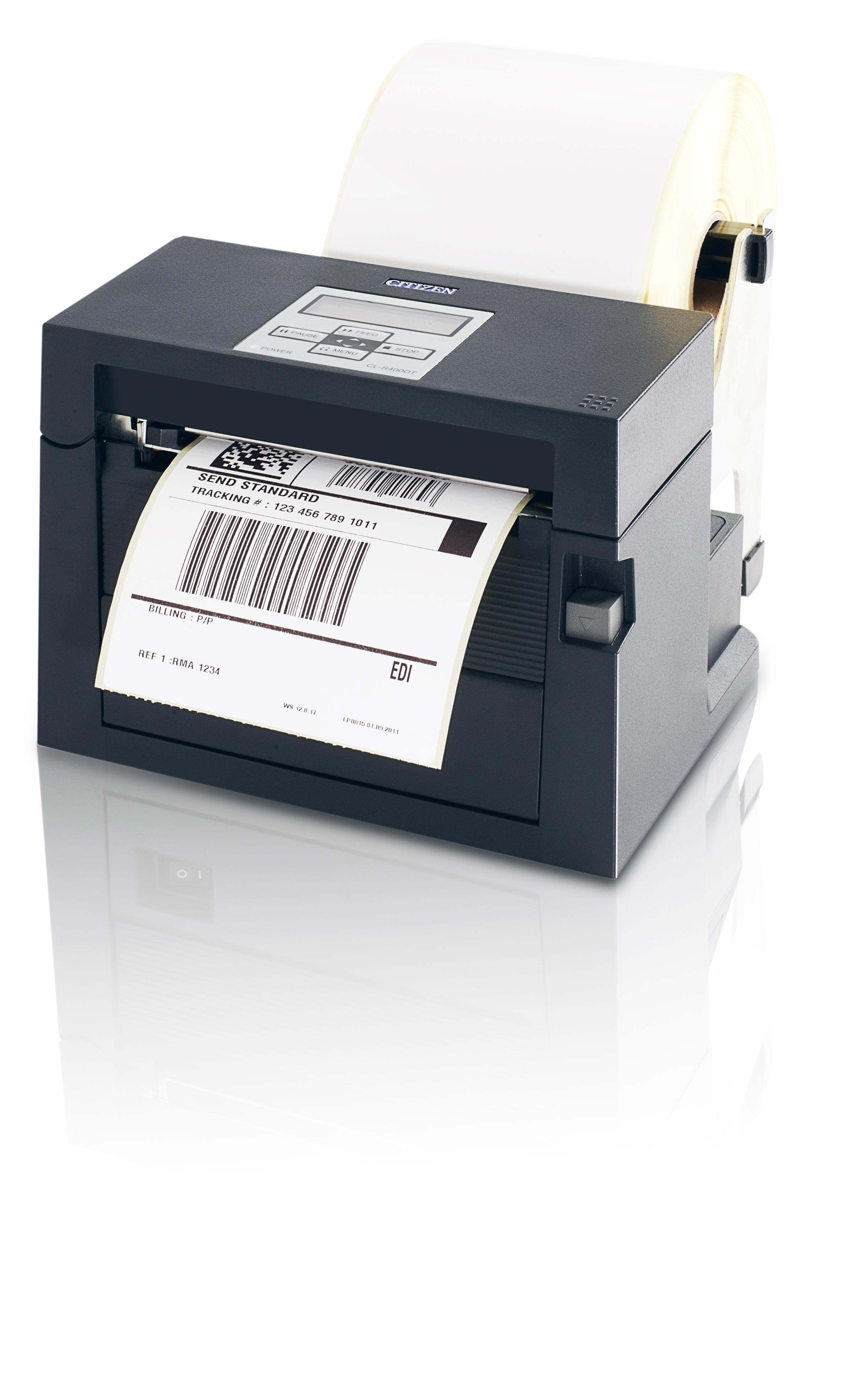 Citizen CLS400DT Direct thermal 203 x 203 DPI 150 mm/sec 10.4 cm 11.8 cm 0.0635 0.254 mm