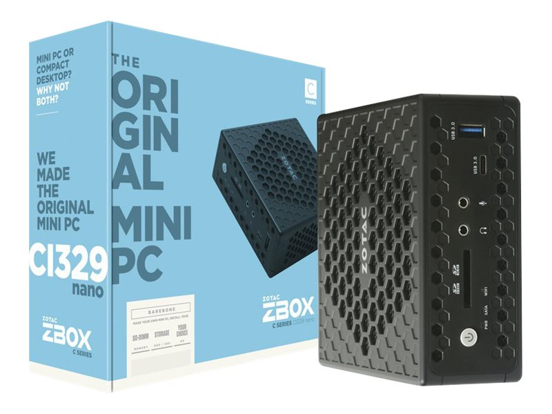 ZOTAC ZBOX C Series CI329 nano - Mini-PC - 1 x Celeron N4100 / 1.1 GHz