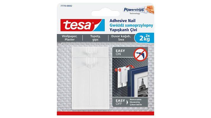 Tesa Adhesive Nail - Indoor - Hilfshaken - Transparent - Klebestreifen - 2 kg - 2 Stück(e)