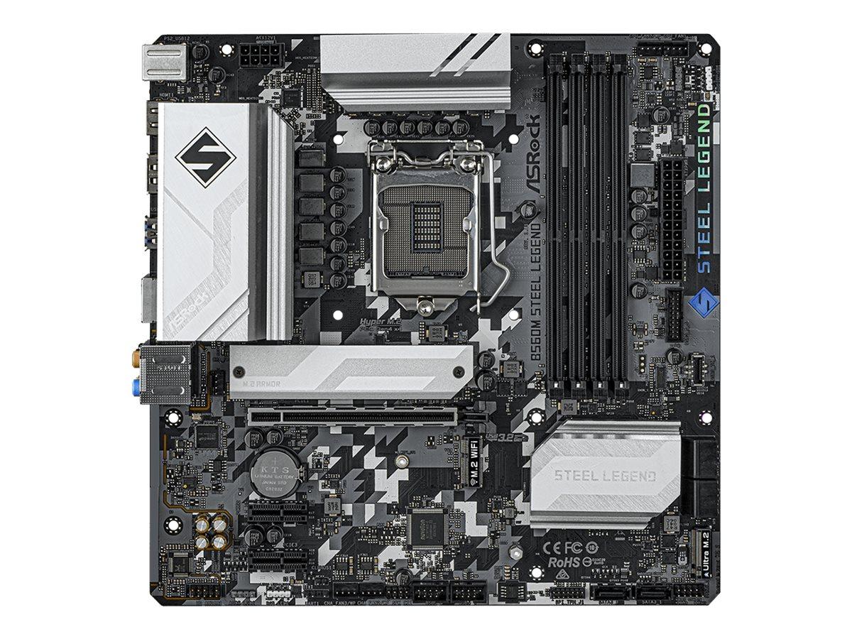 Vorschau: ASRock B560M Steel Legend - Motherboard - micro ATX - LGA1200-Sockel - B560 - USB 3.2 Gen 1, USB-C Gen 2x2 - 2.5 Gigabit LAN - Onboard-Grafik (CPU erforderlich)