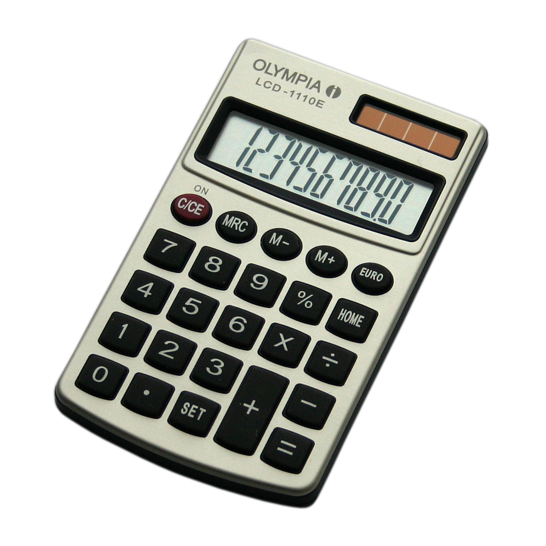 Olympia LCD 1110 E - Einfacher Taschenrechner  - 10-stelliges Display