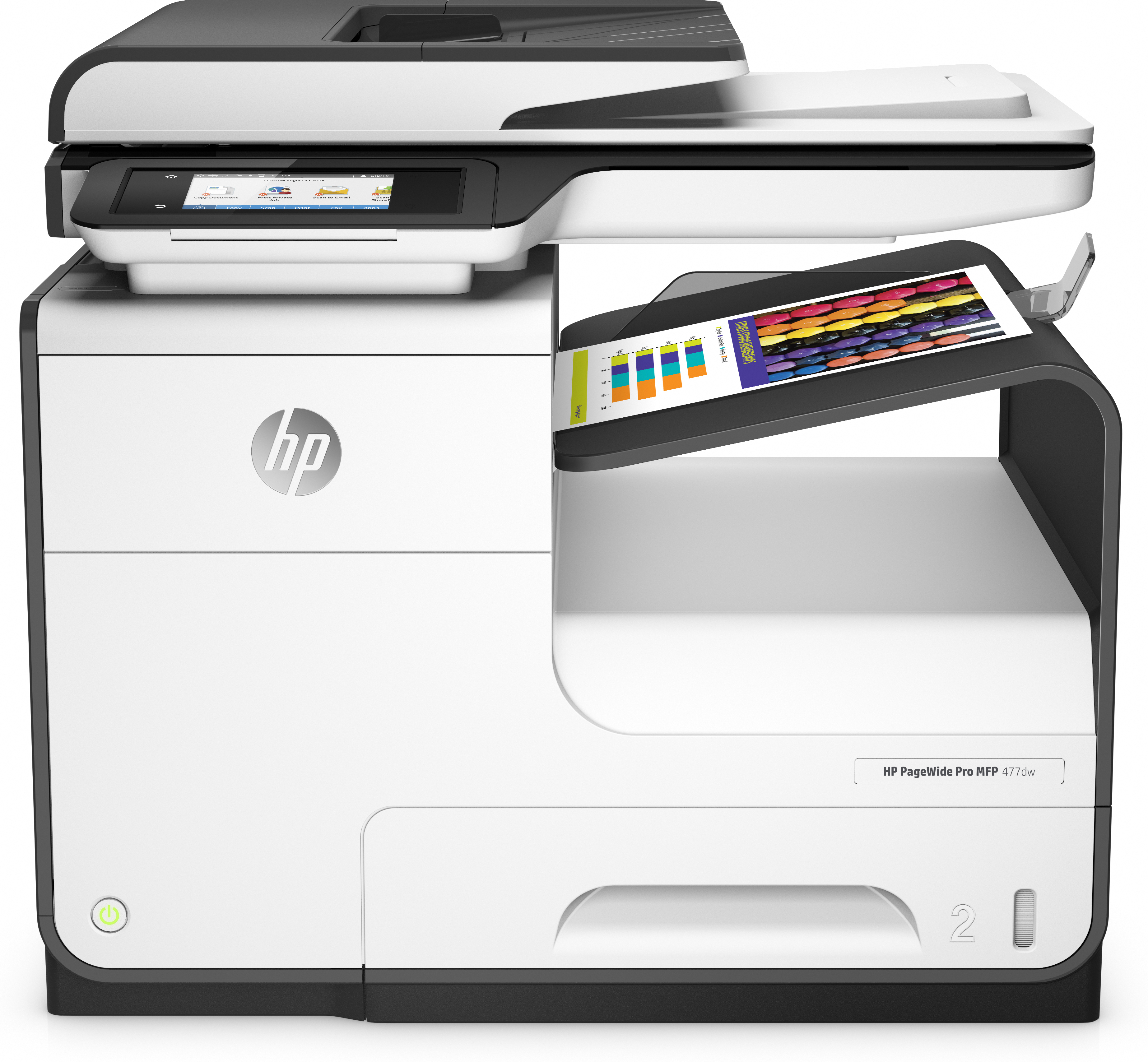 HP PageWide Pro 477dw, Tinte, MFP, A4