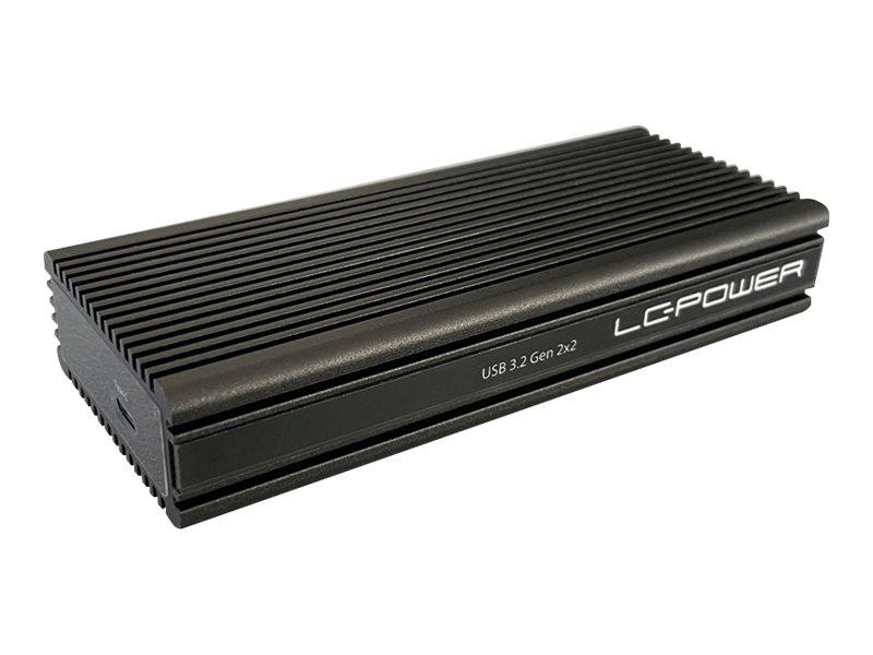 LC Power LC-M2-C-NVME-2X2 - Speichergehäuse - M.2 - M.2 NVMe Card - 20 Gbit/s - USB 3.2 (Gen 2x2)