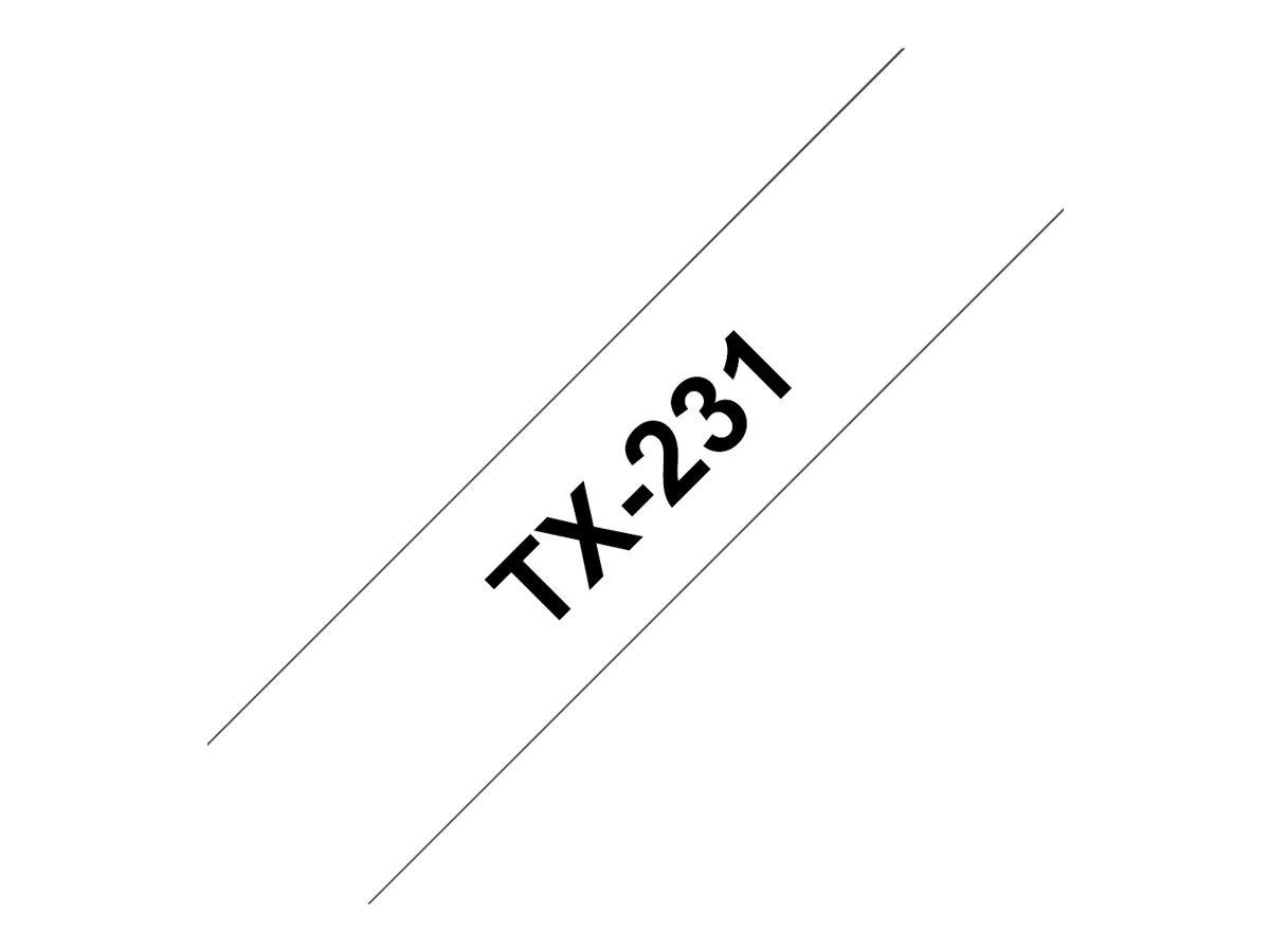 Brother Schwarz, weiß - Rolle (1,2 cm x 15,2 m) 1 Rolle(n) laminiertes Band