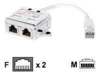 equip Netzwerk-Splitter - RJ-45 (M) bis RJ-45 (W)