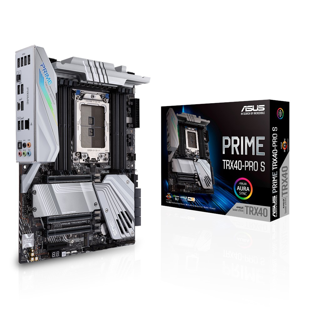ASUS PRIME TRX40-PRO S - Motherboard - Socket sTRX4 - AMD TRX40 - USB-C Gen2, USB 3.2 Gen 1, USB 3.2 Gen 2 - Gigabit LAN - HD Audio (8-Kanal)