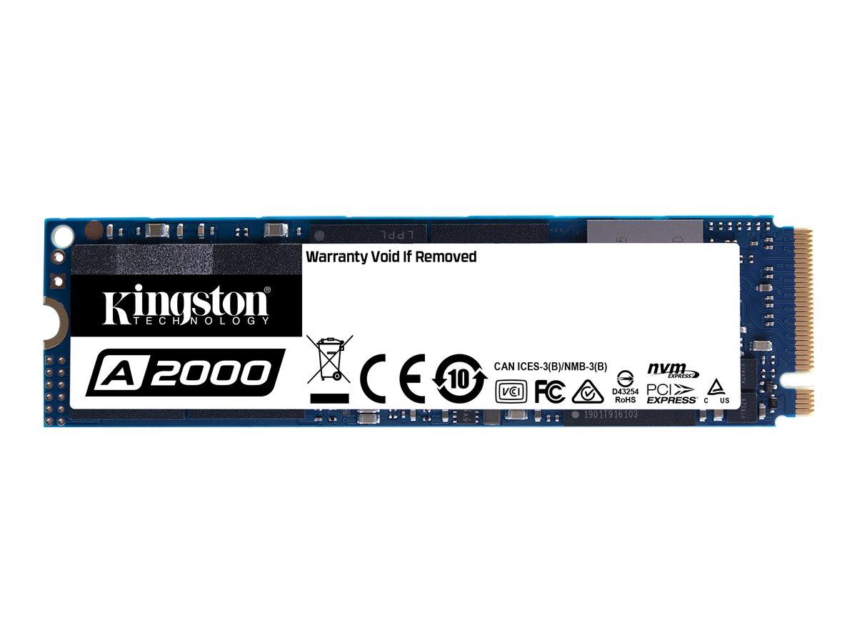 Kingston A2000 - 500 GB SSD - intern - M.2 2280 - PCI Express 3.0 x4 (NVMe)