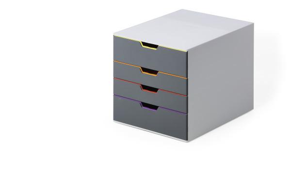 Durable VARICOLOR - 4 Schublade(n) - Grau - Kunststoff - A4 - Einfarbig - Multi