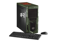 Military Gaming 5477 4.2GHz i7-7700K Tower Schwarz - Grün PC