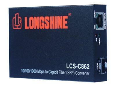 Longshine LCS-C862 - Medienkonverter - GigE - 10Base-T, 1000Base-LX, 1000Base-SX, 100Base-TX, 1000Base-T - RJ-45 / SFP (mini-GBIC)