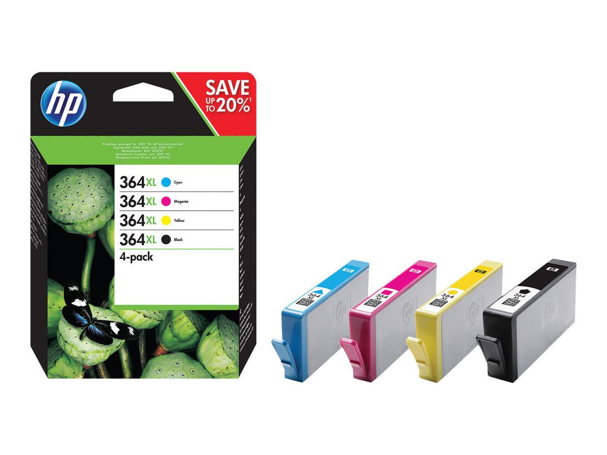 HP Multipack black/cyan/magenta/yellow Nr. 364XL (N9J74AE) ca. 550 bk / 750 Seiten cym