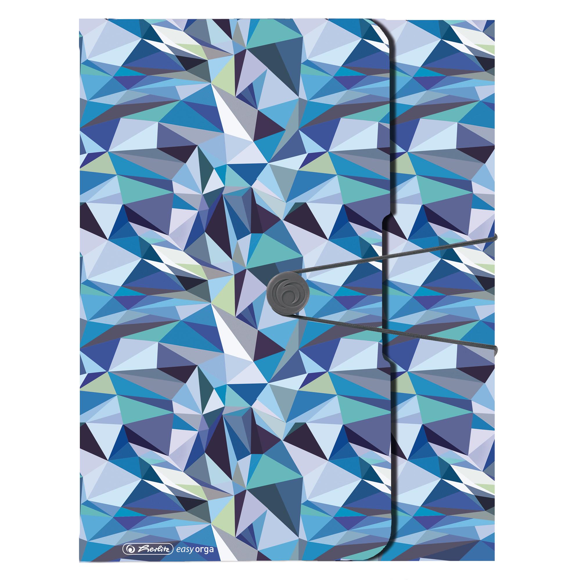 Vorschau: Herlitz 50027347 - A4 - Polypropylen (PP) - Blau - Landschaftsportrait - 4 cm - Gummiband