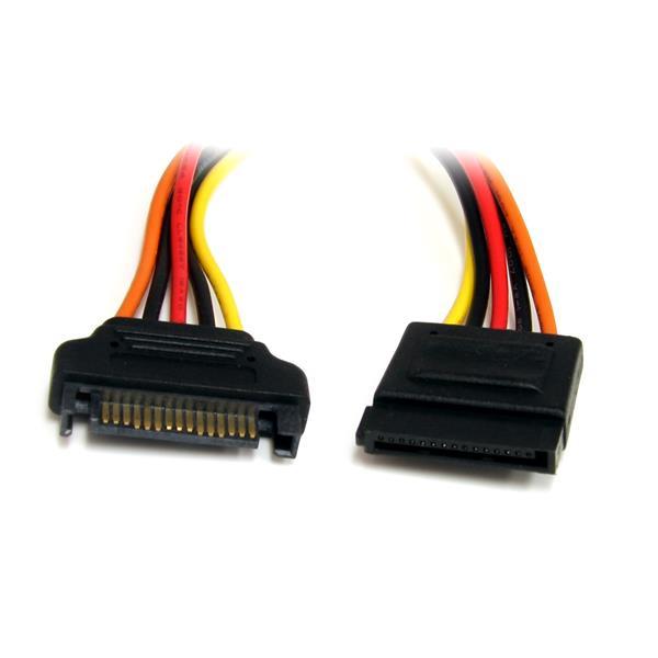 StarTech.com SATA Verlängerung 30cm - S-ATA 15 Pin Stromverlängerung Stecker / Buchse