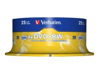 25 x DVD+RW - 4.7 GB 4x - mattes Silber