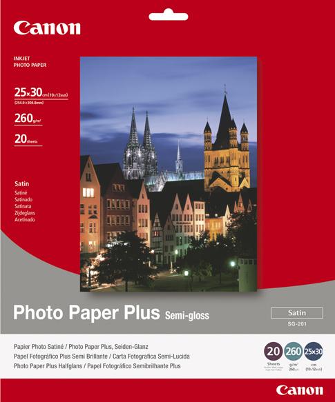 Canon Photo Paper Plus SG-201 Foto-Papier - 260 g/m² - 250x300 mm - 20 Blatt