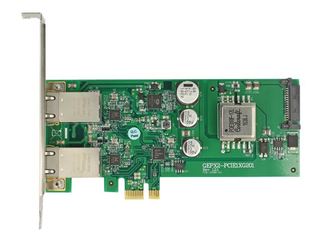 Delock PCI Express Card > 2 x 1 Gigabit LAN PoE+ RJ45 - Netzwerkadapter - PCIe Low-Profile - Gigabit Ethernet (PoE+)