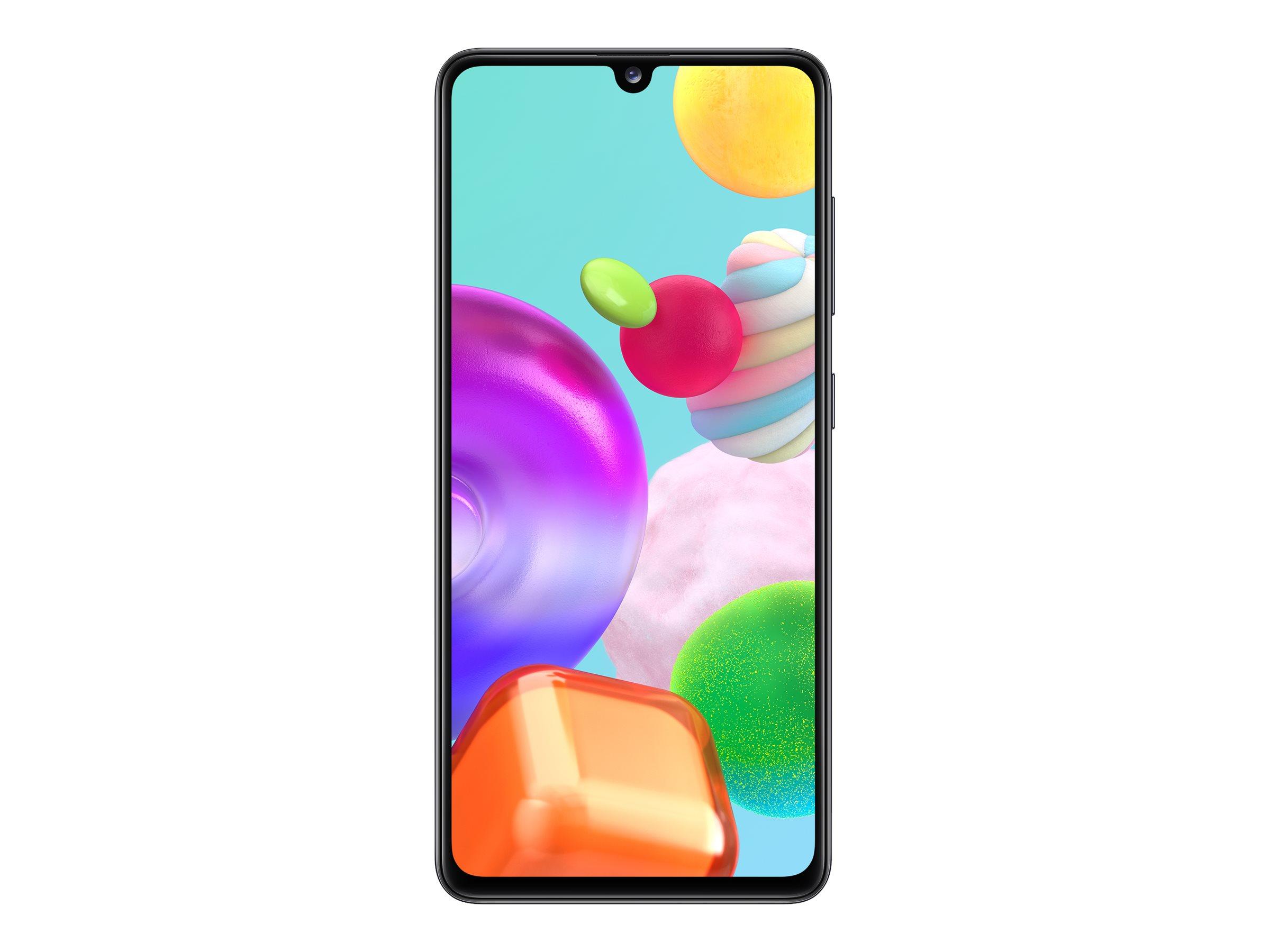 "Samsung Galaxy A41 - Smartphone - Dual-SIM - 4G LTE - 64 GB - microSDXC slot - GSM - 6.1"" - 2400 x 1080 Pixel - Super AMOLED - RAM 4 GB - (25 MP Vorderkamera)"
