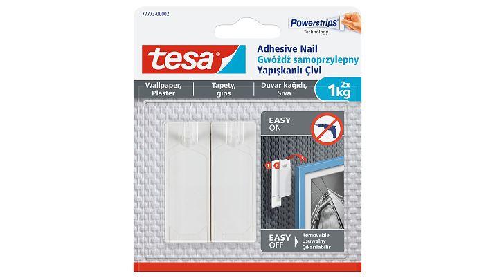 Tesa Adhesive Nail - indoor - Hilfshaken - Transparent - Klebestreifen - 1 kg - 2 Stück(e)