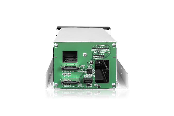 """Icy Dock FatCage MB901SPR-B - Internes RAID-Gehäuse mit Datenanzeige, Netzanzeige - 2,5"""" / 3,5"""" gemeinsam genutzt (6,4 cm/8,9 cm gemeinsam genutzt)"""