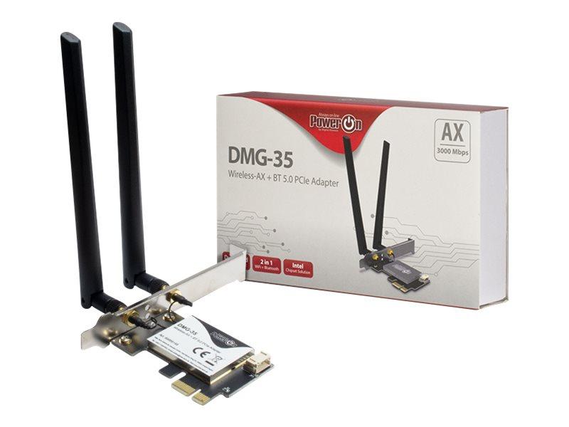 Inter-Tech DMG-35 - Netzwerkadapter - PCIe Low-Profile