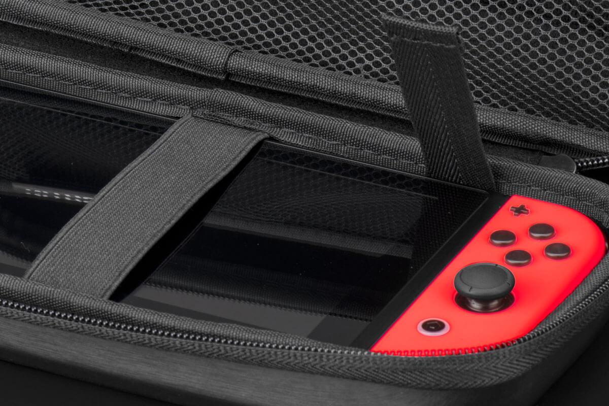 Nitho NSW-ACLT-K - Hartschalenkoffer - Nintendo - Schwarz - Nintendo Switch - Reißverschluss